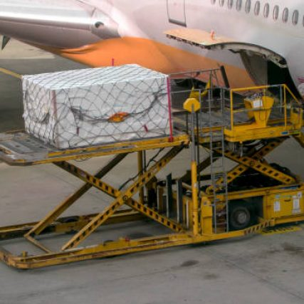 May 28, 2019. Incheon International Airport carries air cargo on the passenger plane.