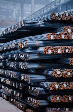 round steel bars at factory , adobe rgb 1998 use...........